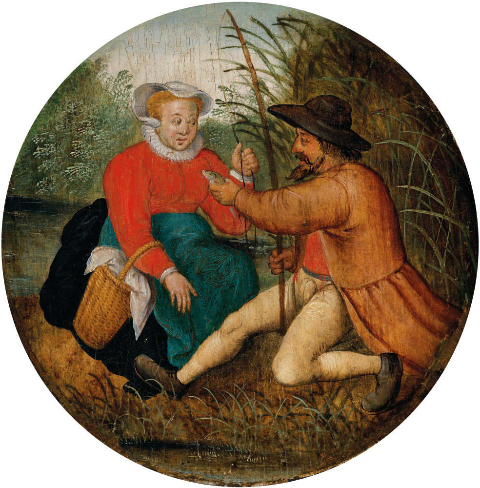 Peter Brueghel the Younger. Couple fishing