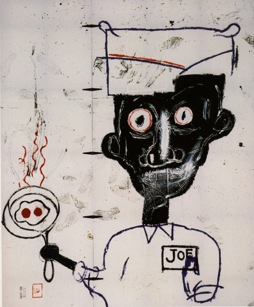 Jean-Michel Basquiat. Eyes and eggs