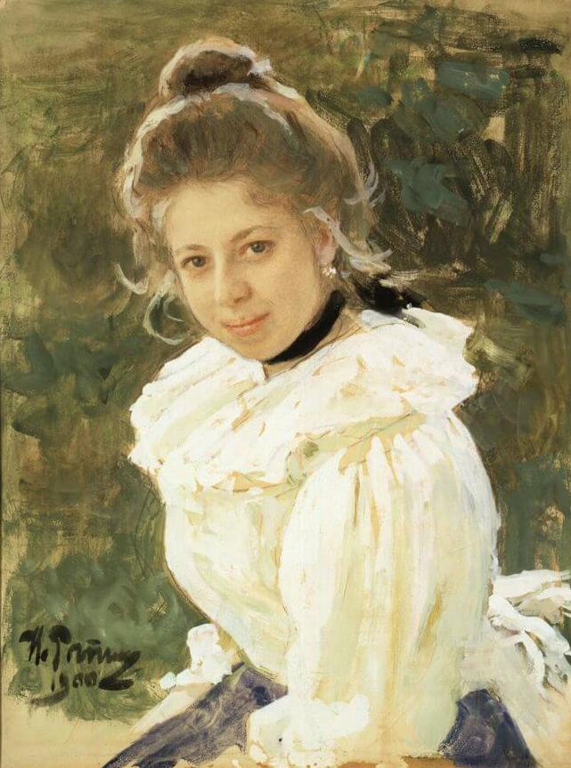 Ilya Efimovich Repin. Girl's head. Portrait of Sofia Vasilievna Sazonova