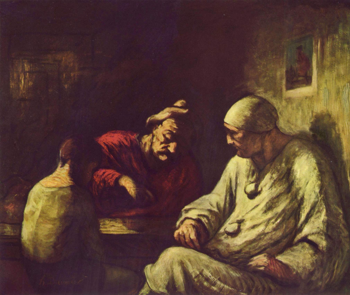 Honore Daumier. The rest of the magician