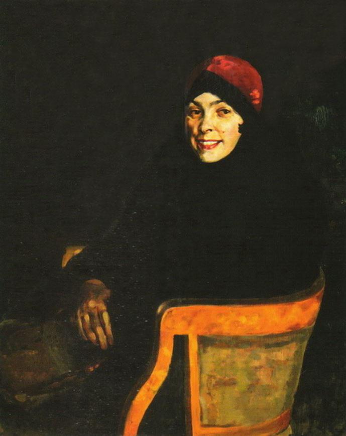 Ivan Ivanovich Zakharov. Female portrait. In the armchair.
