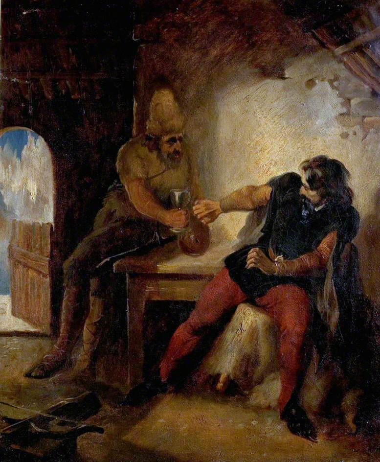 Ford Madox Brown. Manfred in the hut of the hunter