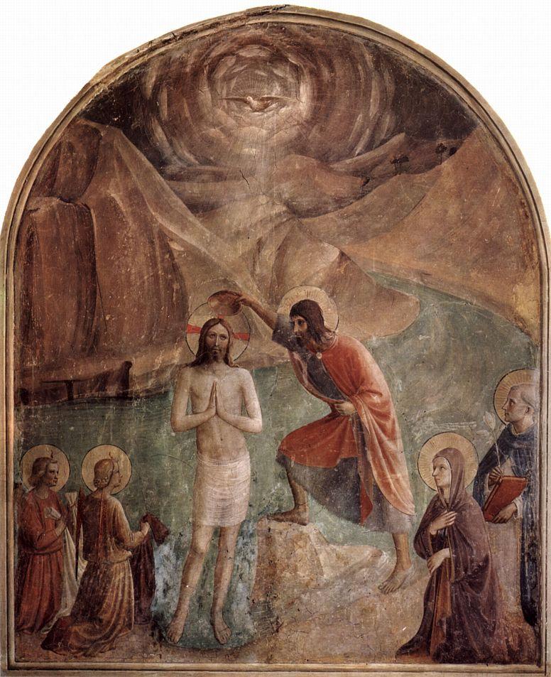 Фра Беато Анджелико. Крещение Христа