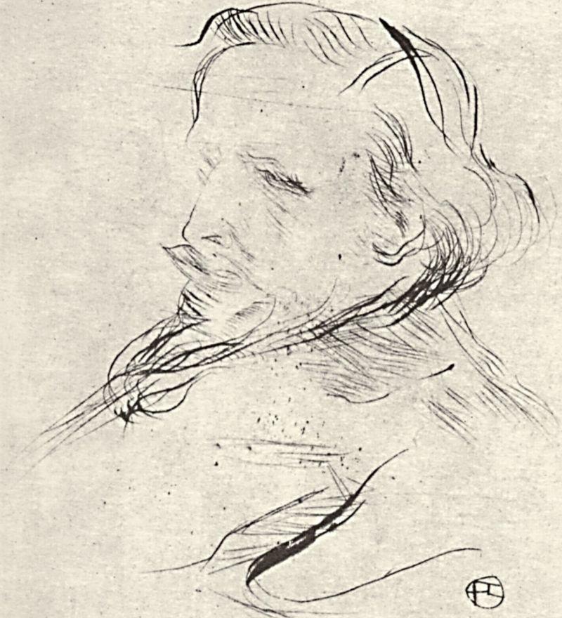 Анри де Тулуз-Лотрек. Портрет Франсиса Журдена