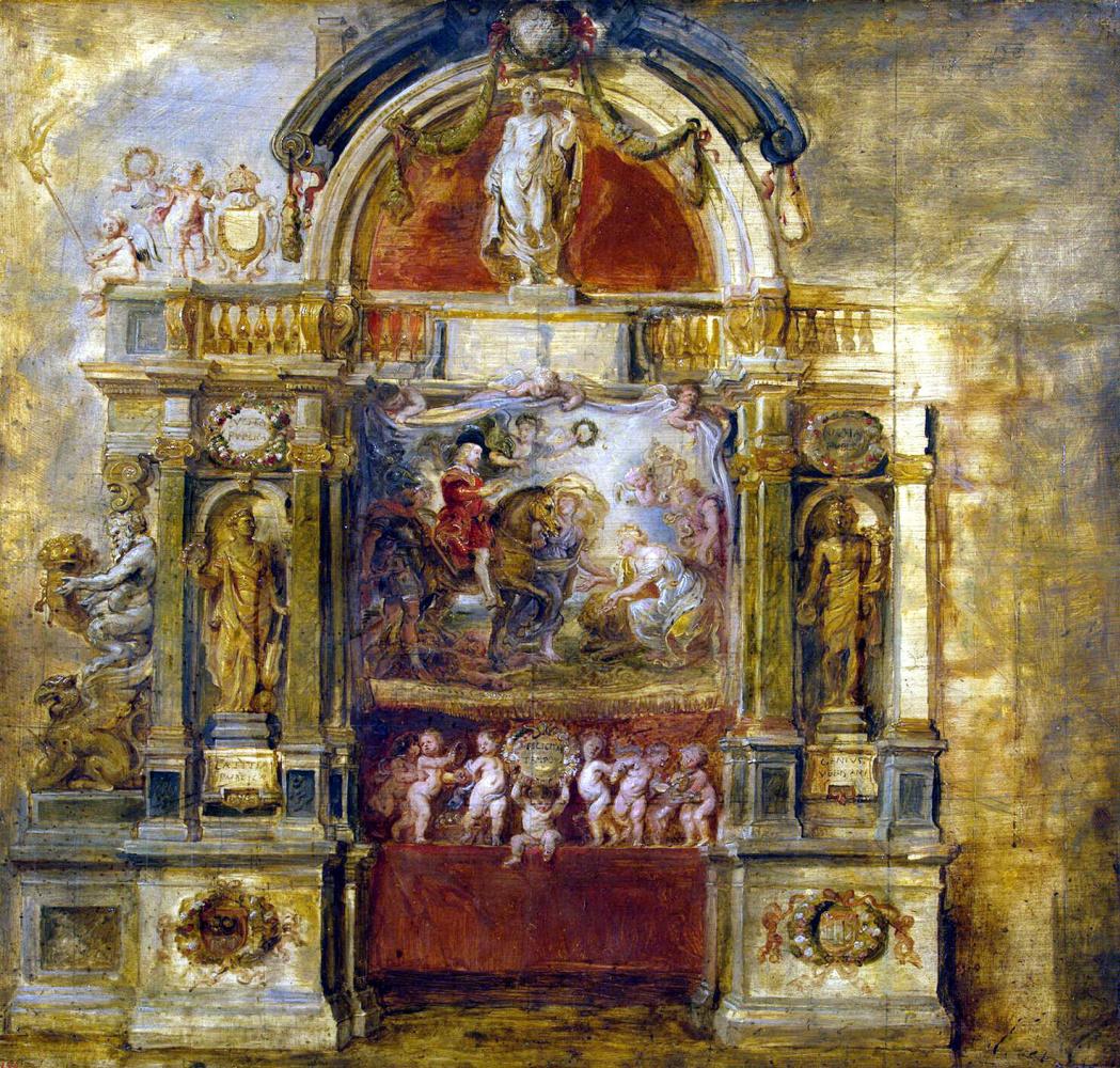Питер Пауль Рубенс. Поздравление с прибытием инфанта Фердинанда
