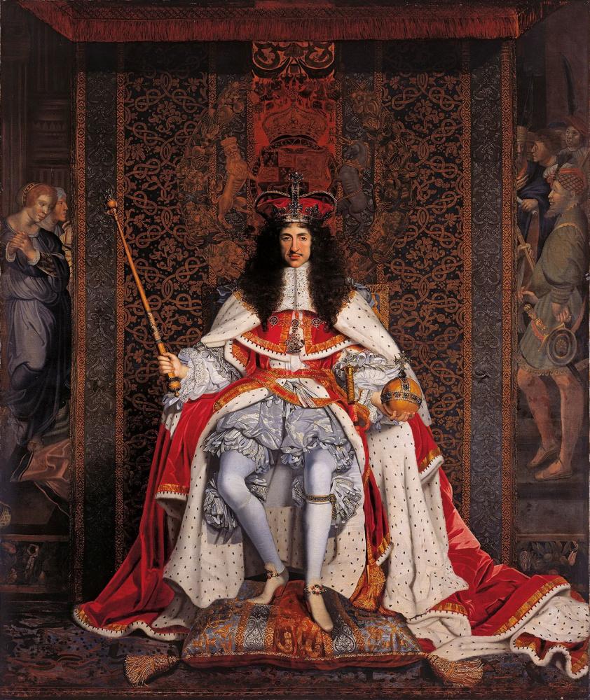 Джон Майкл   Райт. Карл ІІ в коронационных одеяниях