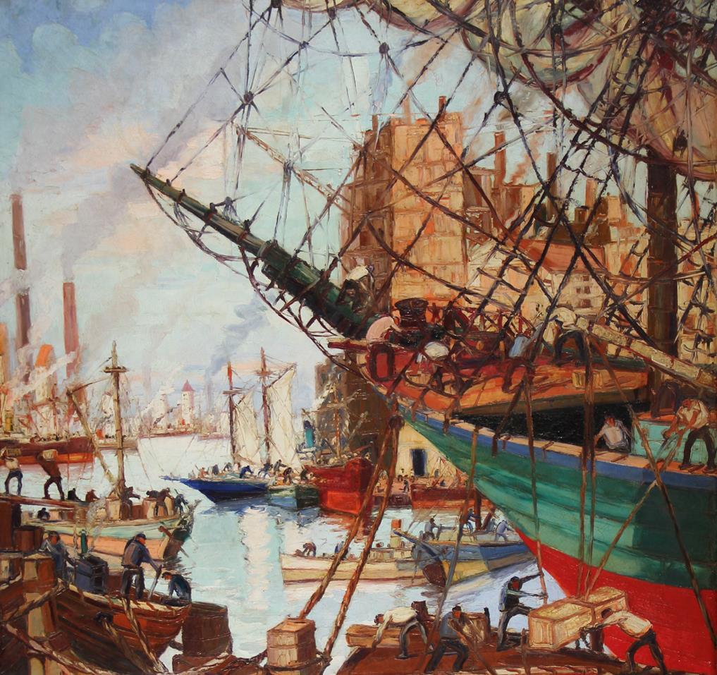 Benito Quinquela Martín. The Port and Work