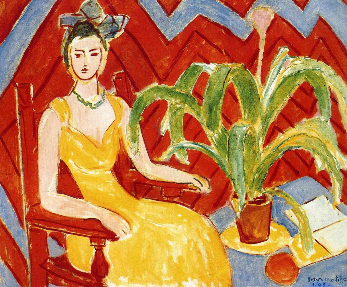 Анри Матисс. Желтое платье