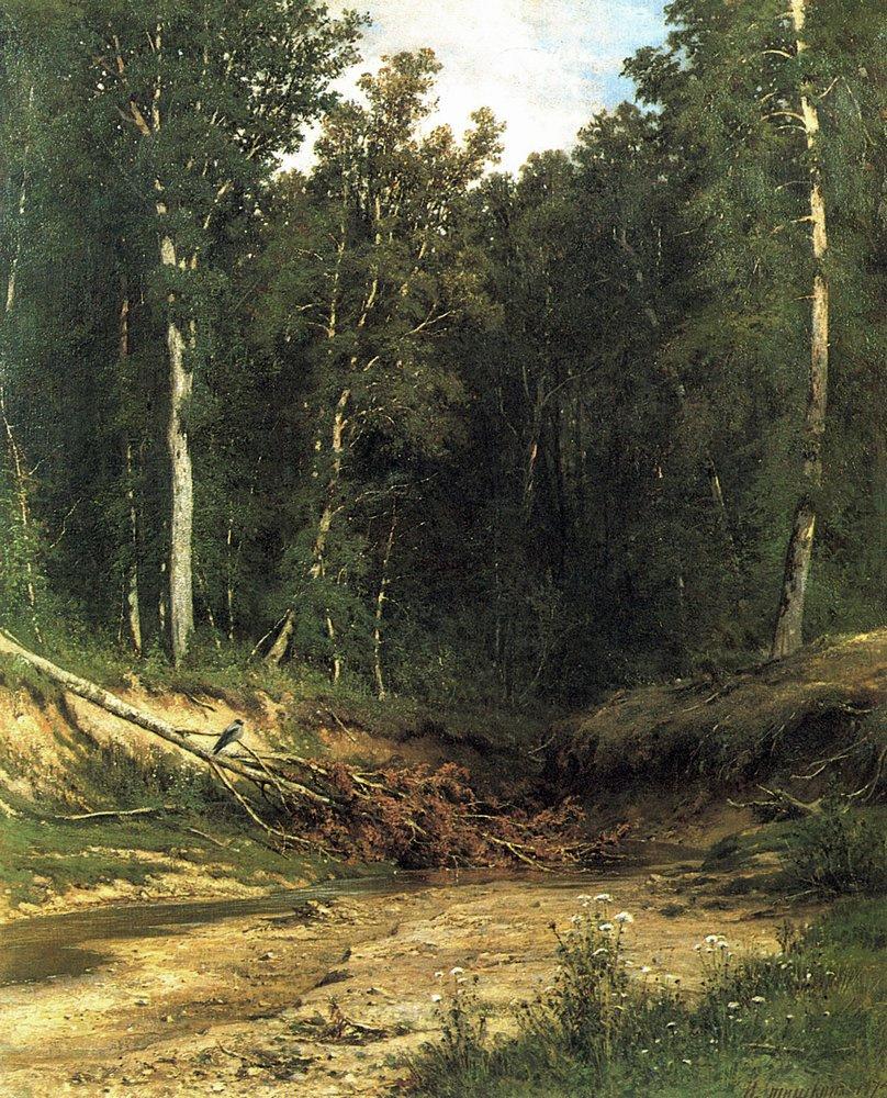 Ivan Shishkin. Forest stream (württemberg)