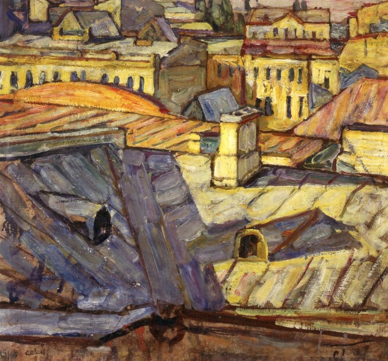 Абрам Аншелевич Маневич. Moscow roofs