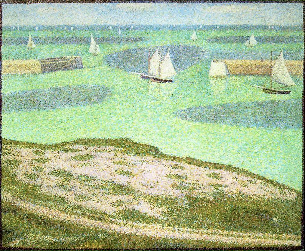 Georges Seurat. Port-EN-Bessines - entrance to the harbour