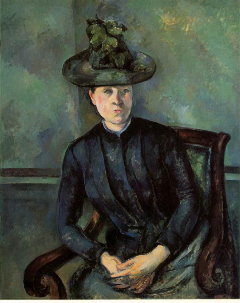 Поль Сезанн. Мадам Сезанн в зеленой шляпе