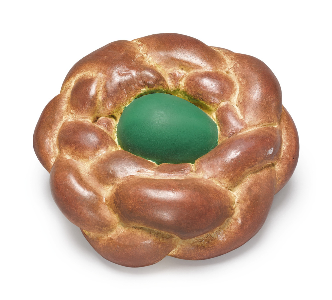 Jeff Koons. Bread with green egg