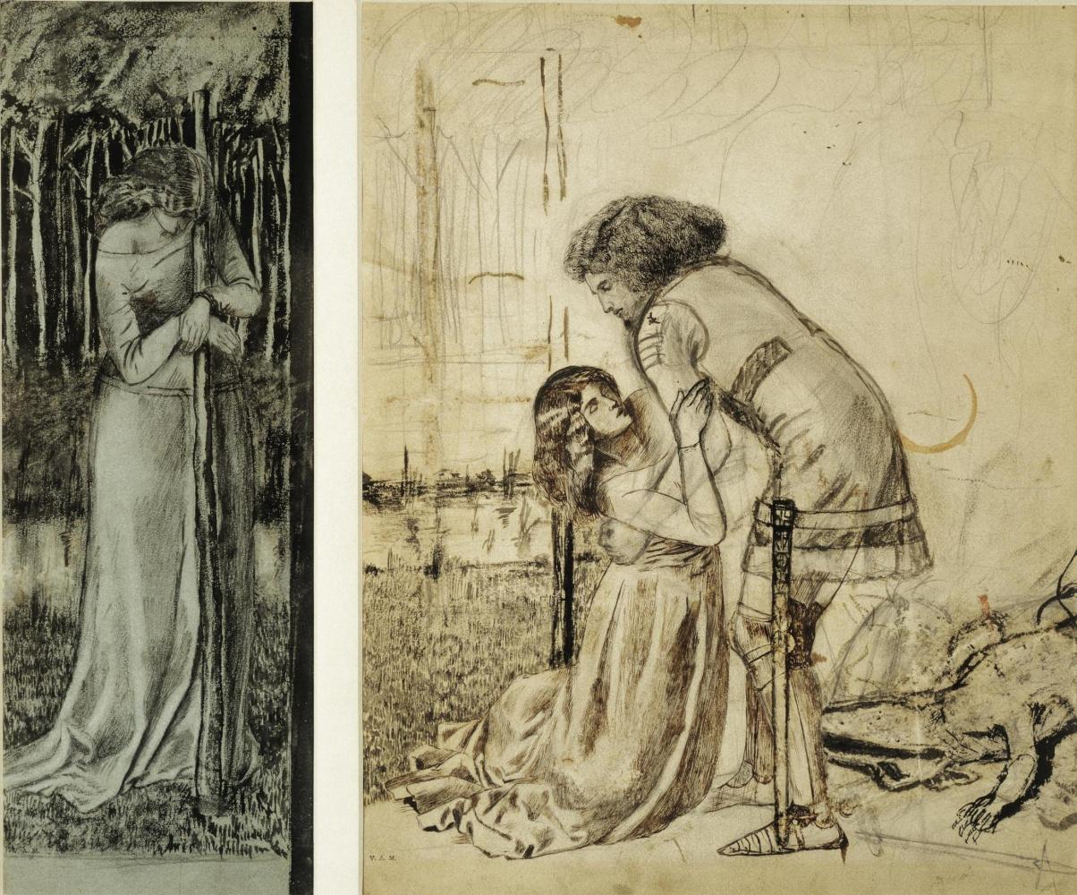 William Morris. The legend of St. George. Sketch