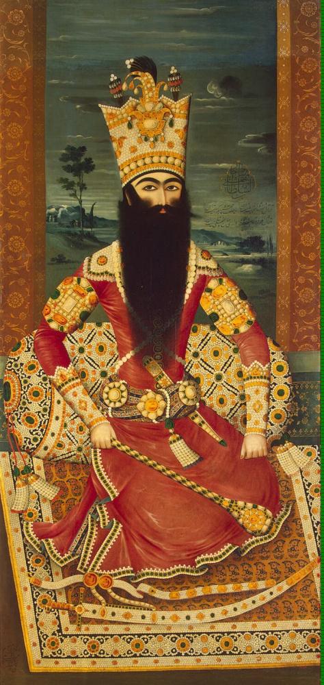 Михр-Али. Портрет сидящего Фатх-Али-шаха