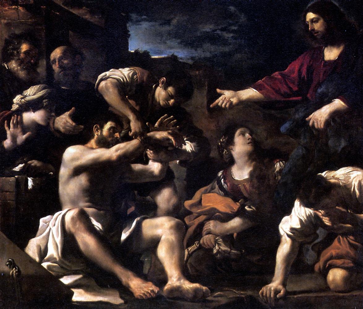Barbieri Giovanni Francesco. The Resurrection Of Lazarus