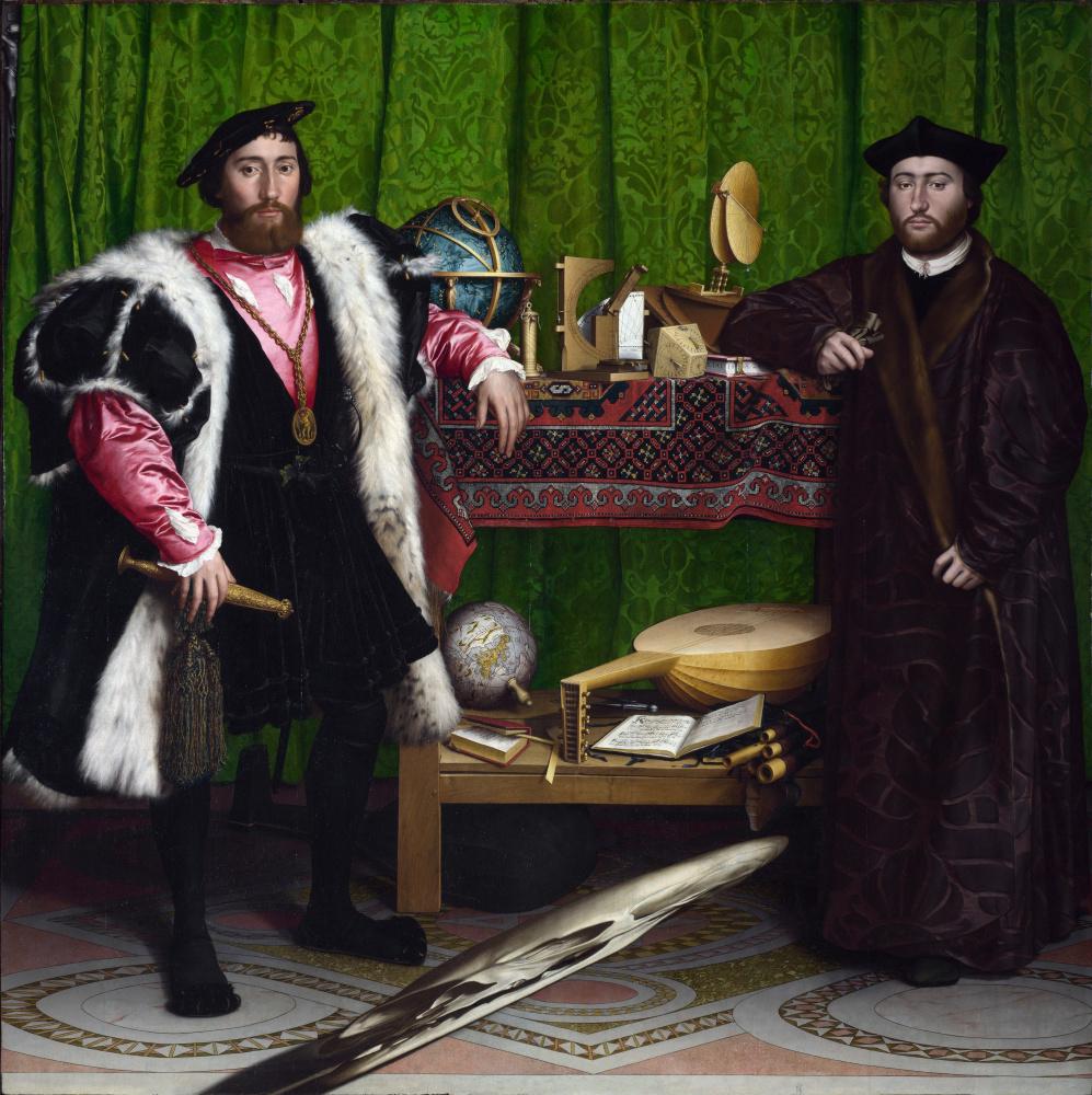 Hans Holbein The Younger. Ambassadors (Portrait of Jean de Denteville and Georges de Selva)