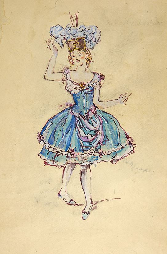Nikolay Alexandrovich Benois. Women's costume sketch