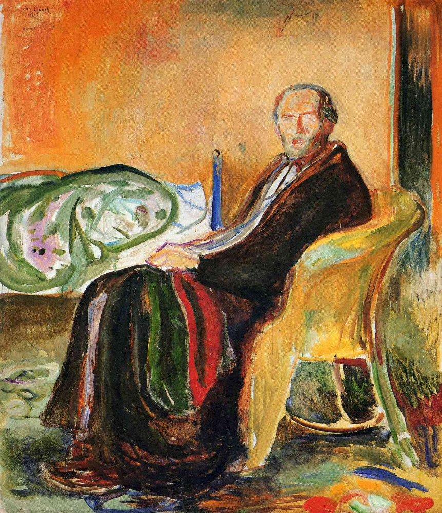 Edward Munch. Self-portrait after Spanish influenza
