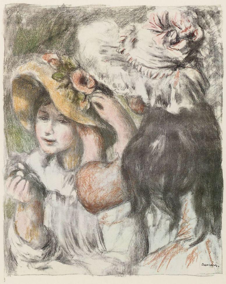 Pierre-Auguste Renoir. Embellished hat