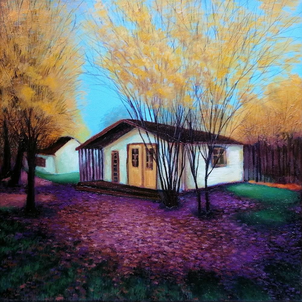 Natalia Shcherbakova. Summer house in the autumn forest