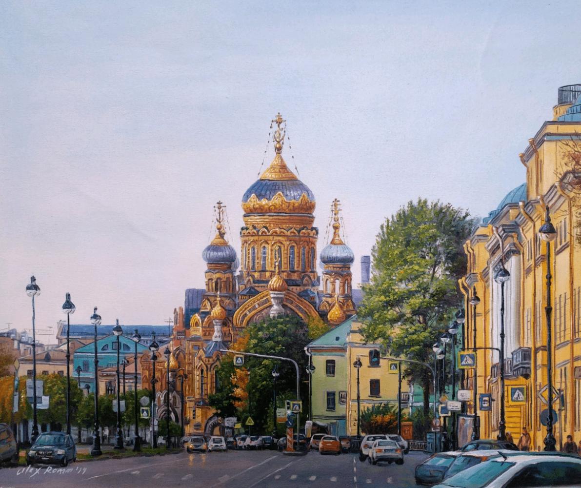 Alexander Romm. Illuminated by the brilliance of the morning ... Walking around Vasilievsky Island