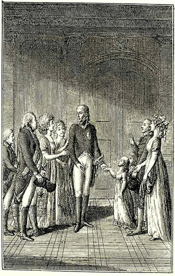 Даниэль  Николай Ходовецкий. Фридрих Вильгельм II представляет своим детям детей Дюнх