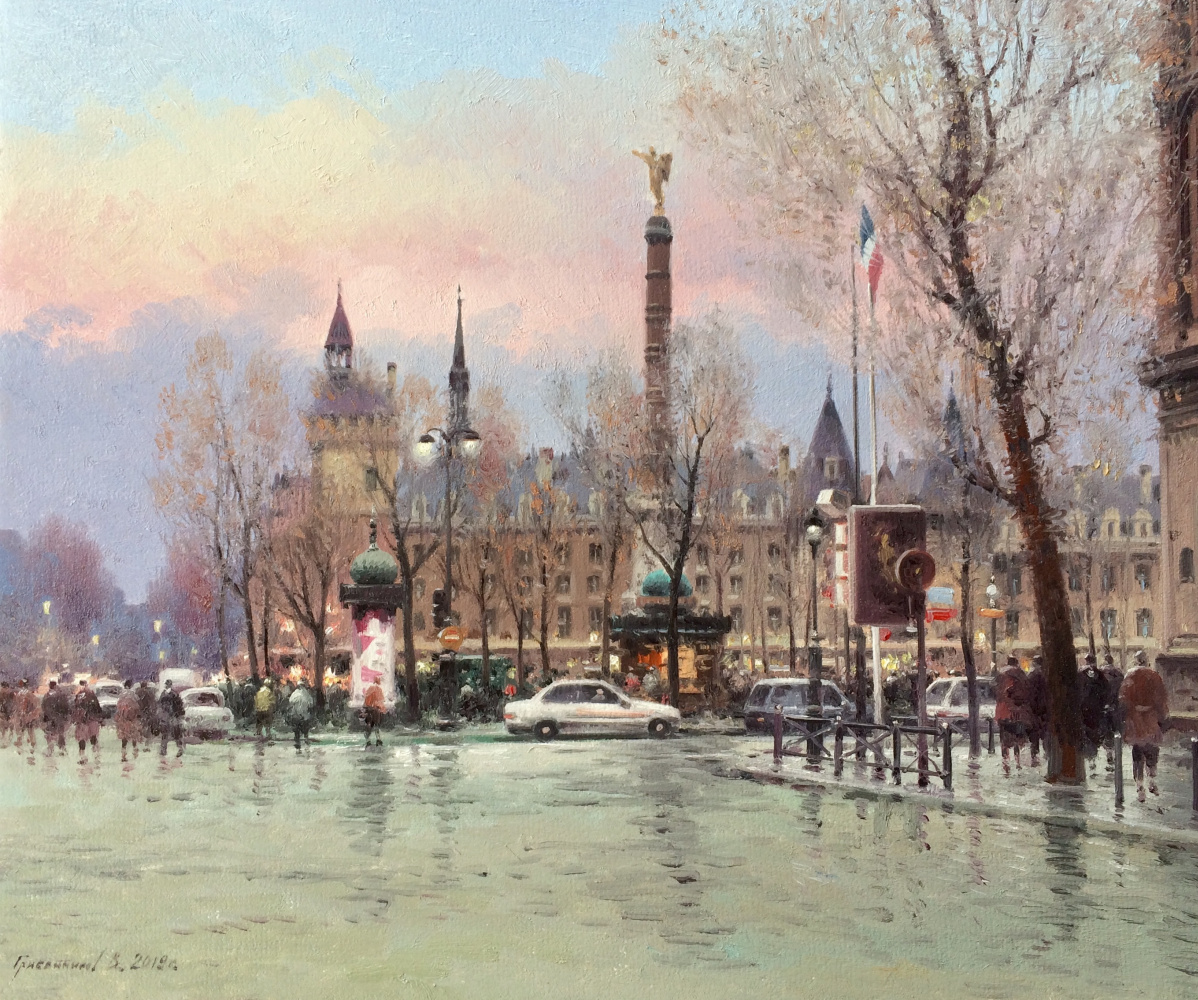Vasily Ivanovich Gribennikov. Morning. Paris