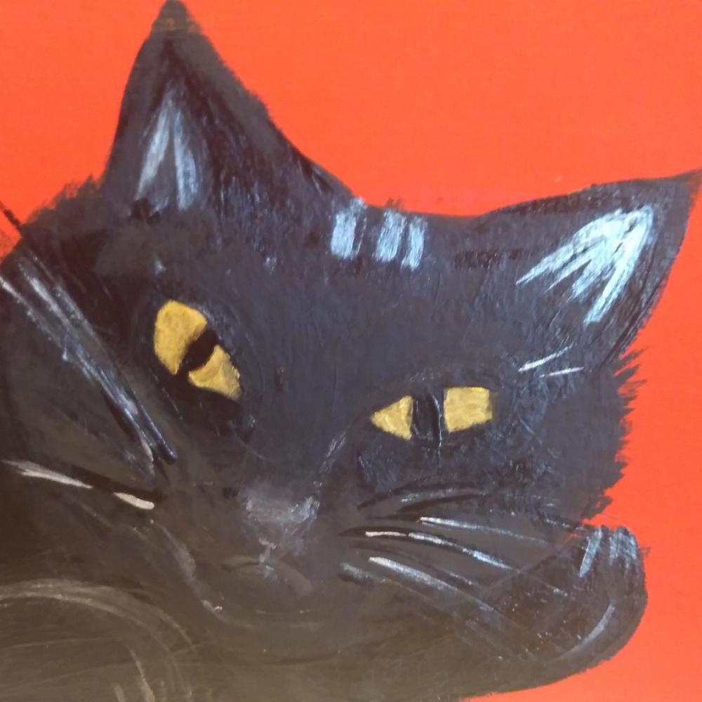 Polina Alekseevna Alexandrova. Black cat