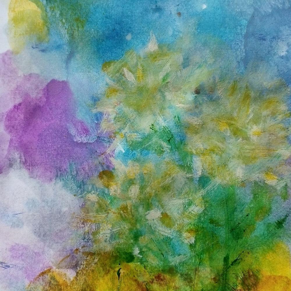 Elenka Ivankova. Chrysanthemums Fragment