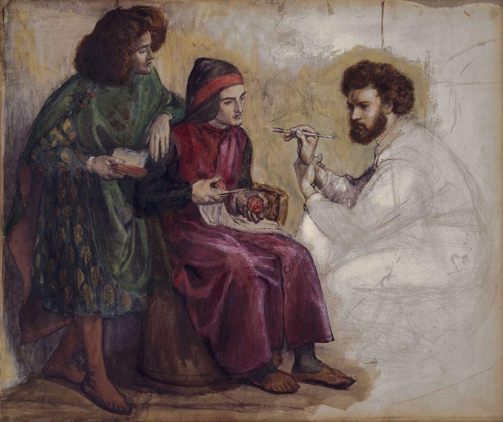 Данте Габриэль Россетти. Джотто рисует портрет Данте