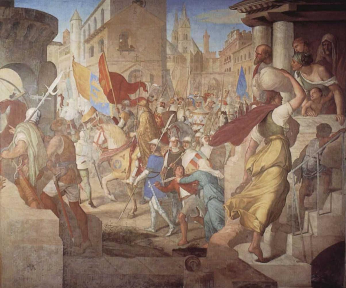 Юлиус Шнорр фон Карольсфельд. Войско франков под предводительством Карла Великого в Париже