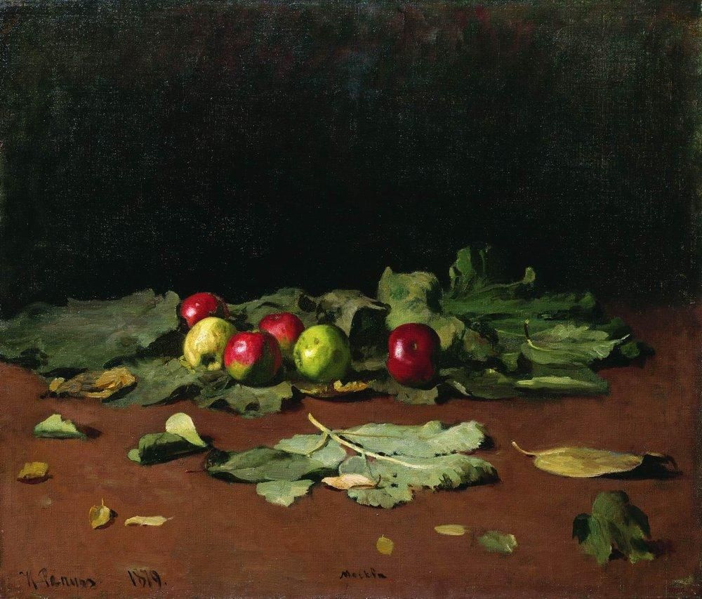 Ilya Efimovich Repin. Apples and leaves