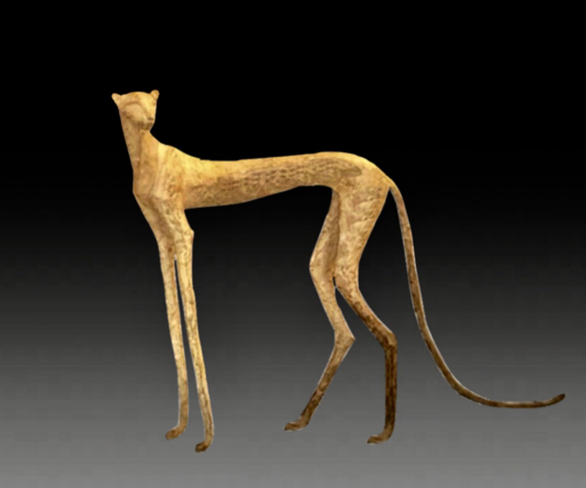 """(no name). Sculpture """"Leopard"""""""