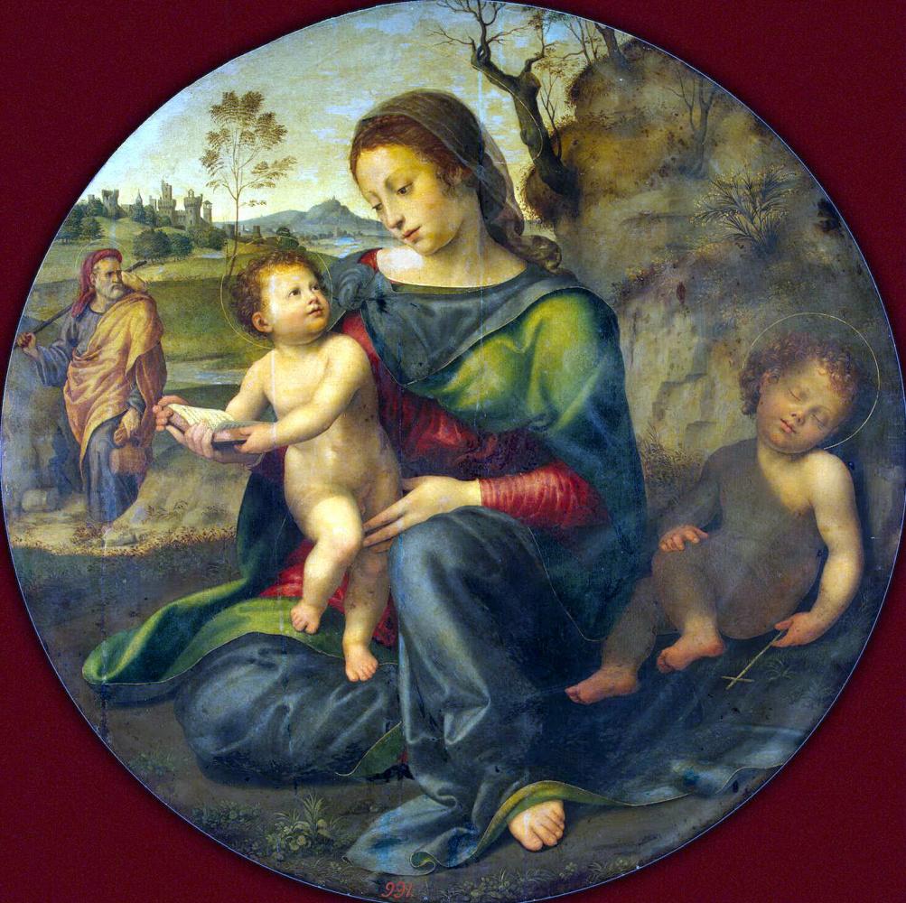 Джулио ди Пьетро ди Симоне Буджардини. Мадонна с Младенцем, Святым Иосифом и Иоанном Крестителем
