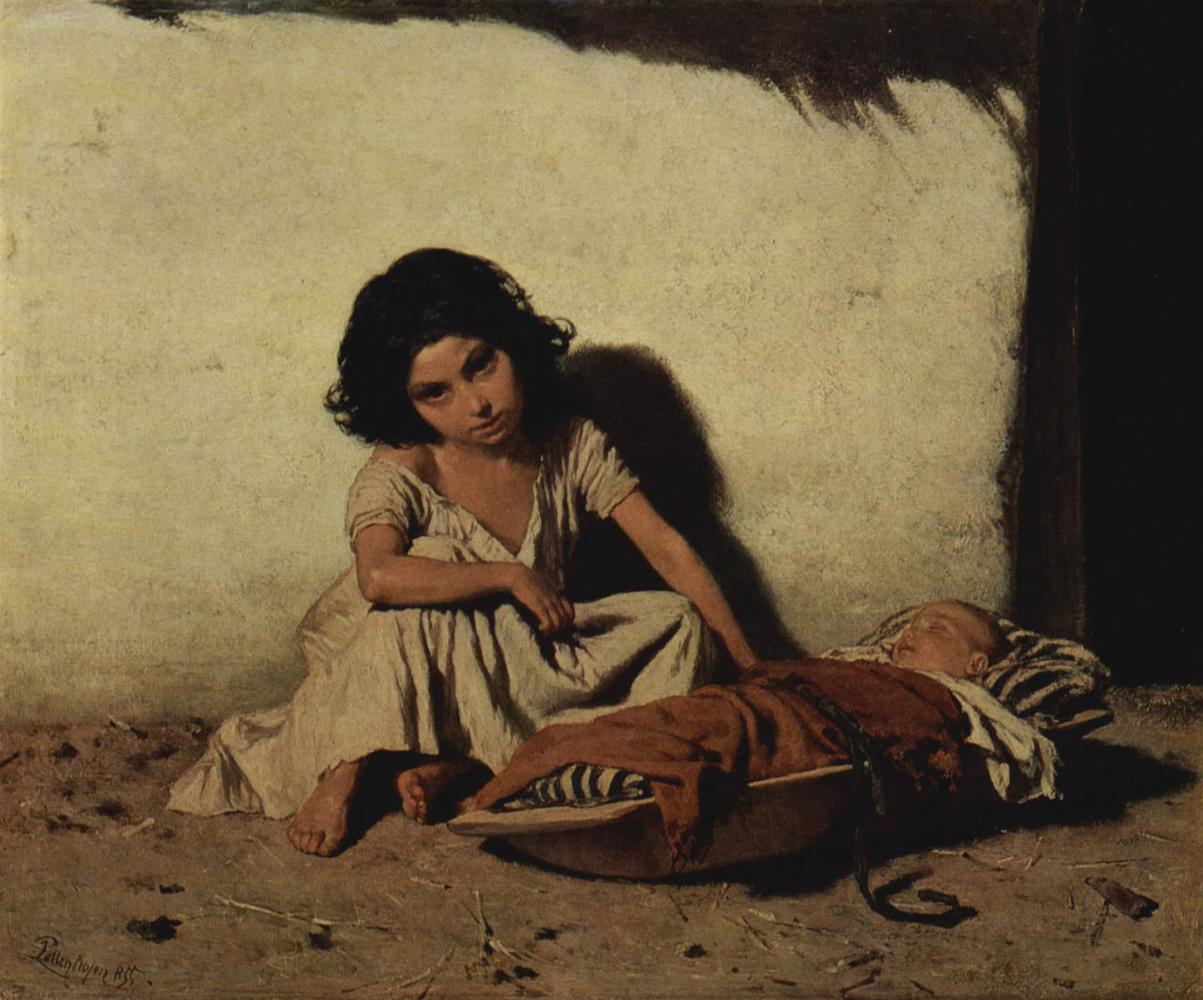 August Ksaver Karl von Pettenkofen. Roma children