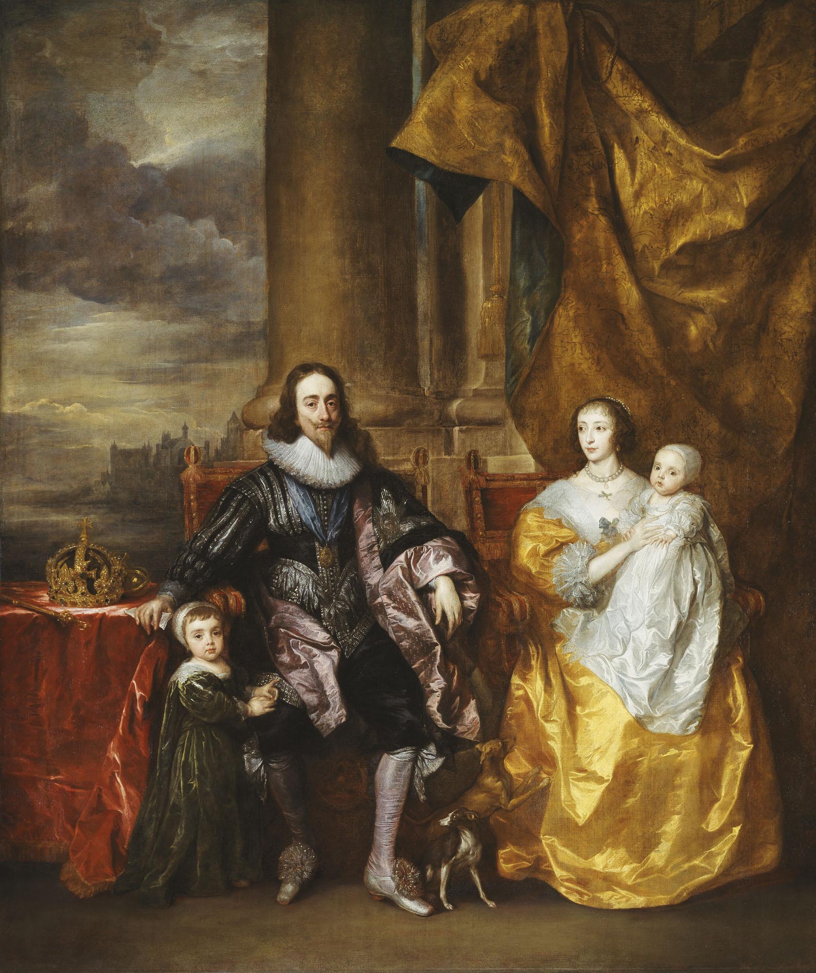 Антонис ван Дейк. Карл І и Генриетта Мария с двумя старшими детьми, принцем Карлом и принцессой Марией