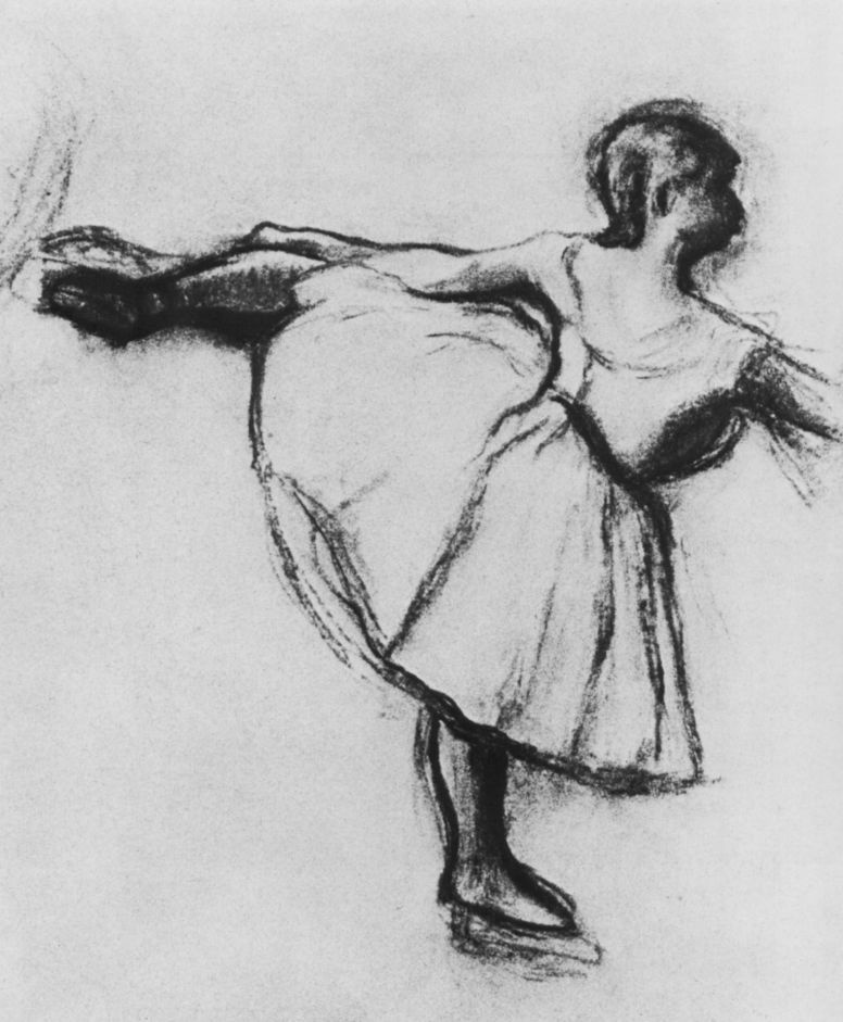 Edgar Degas. Ballerina at the Barre