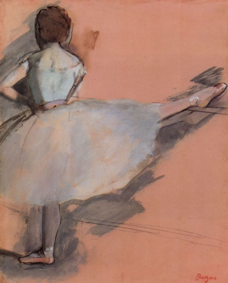 Эдгар Дега. Балерина у станка