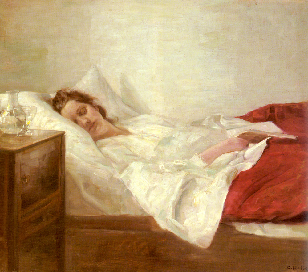 Carl Wilhelm Halse. Sleeping
