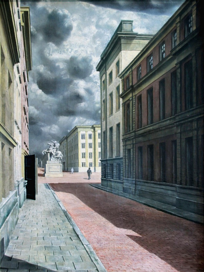 Karel Willinck. Street with a stow