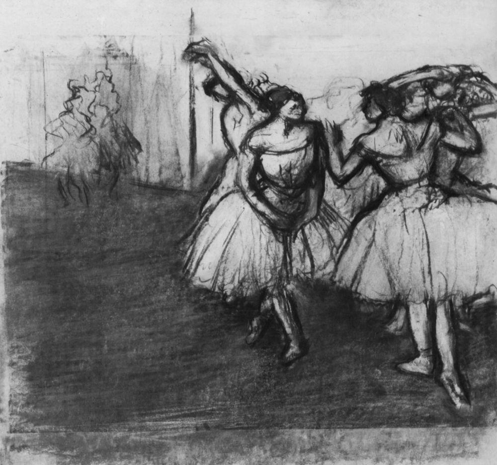 Edgar Degas. Ballerina on stage