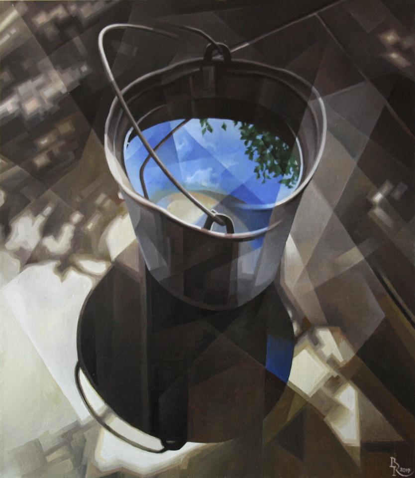Vasily Krotkov. The Sky. Post-Cubo-Futurism