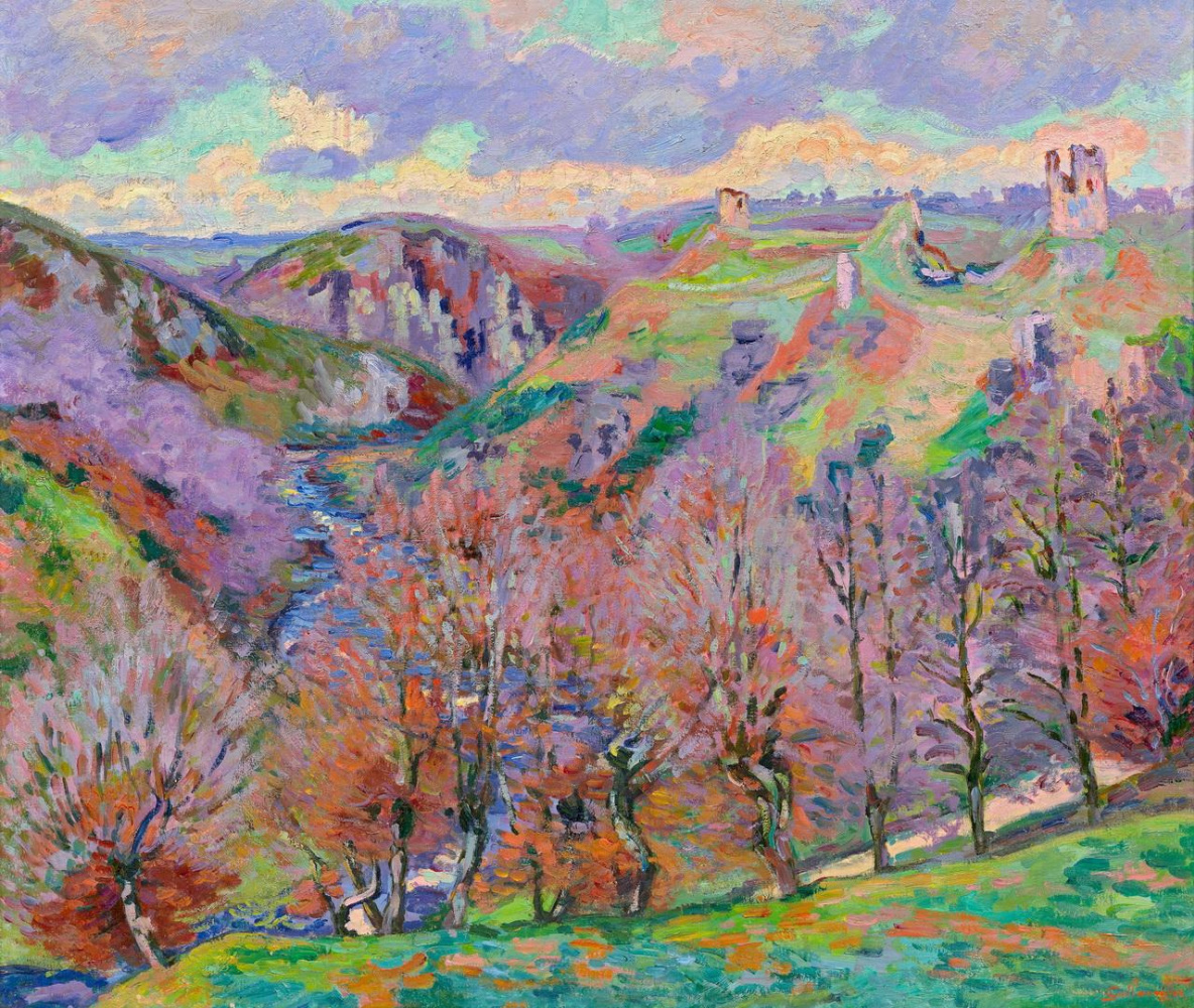 Arman Guillaume. Landscape with ruins