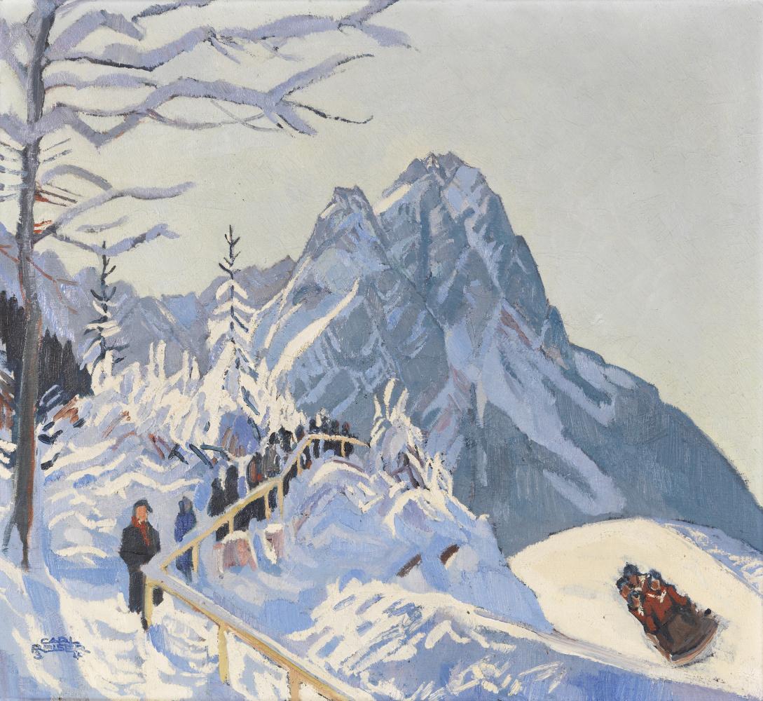 Карл Райсер. Зимний пейзаж