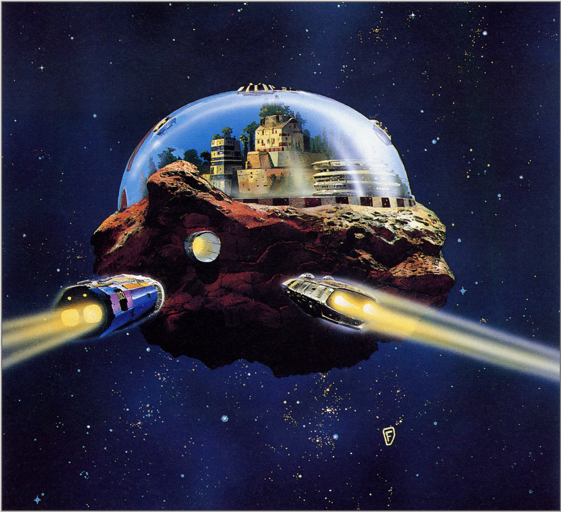 Chris Foss. The city on the asteroid