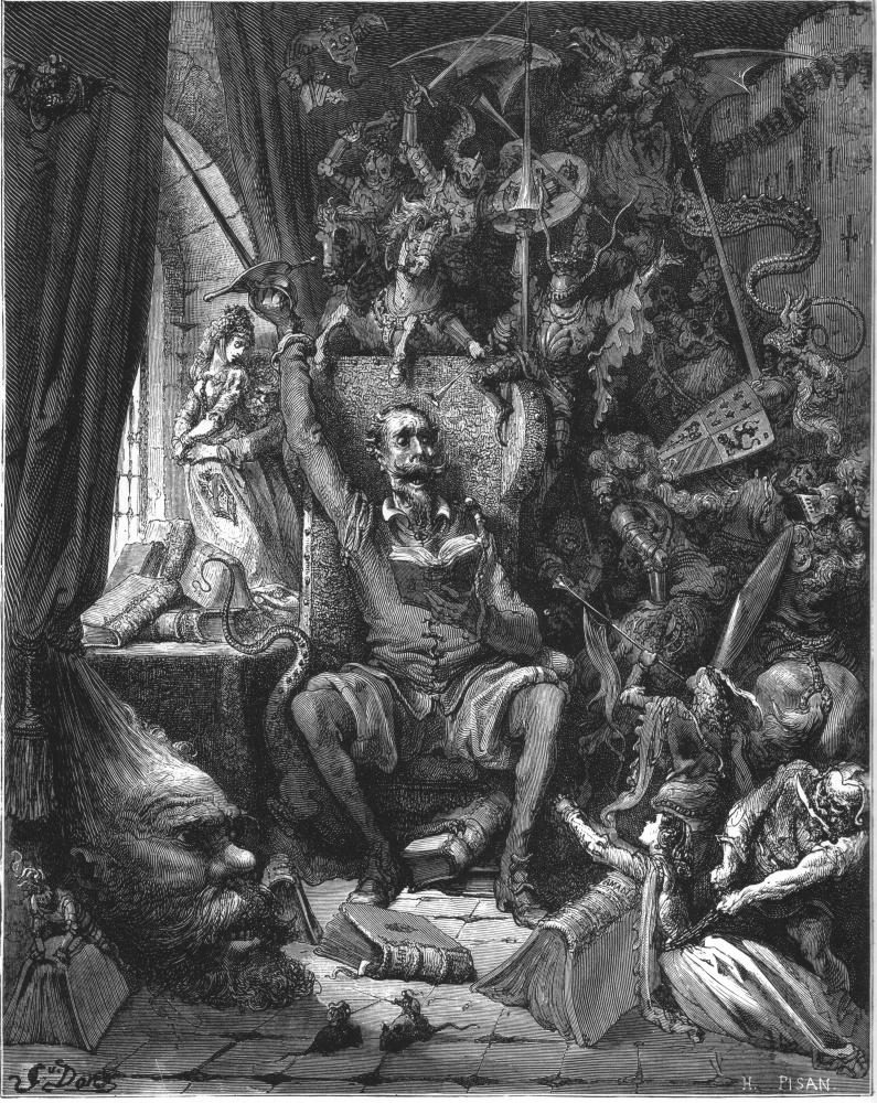 Paul Gustave Dore. Illustration for M.Servantes' novel Don Quixote