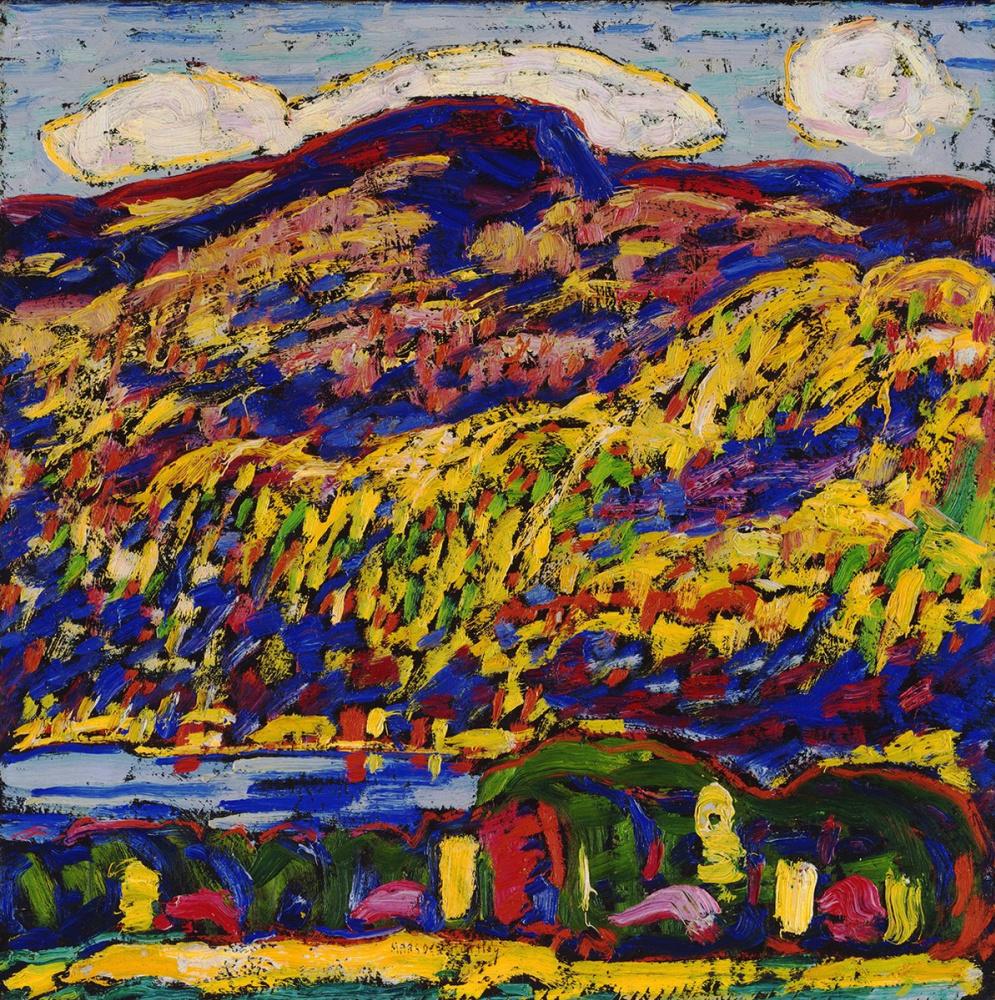 Marsden Hartley. Mountain lake - autumn