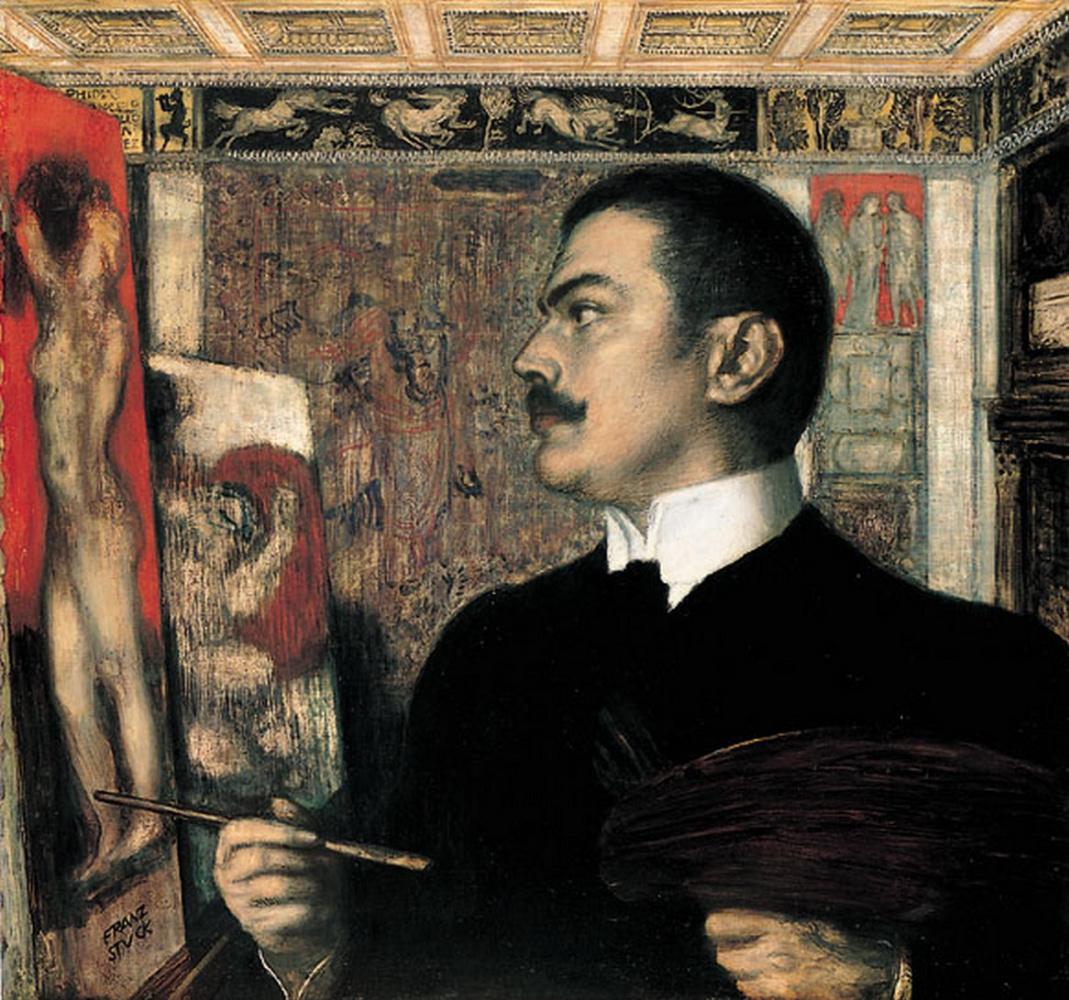 Franz von Stuck. Self portrait in the Studio in Munich