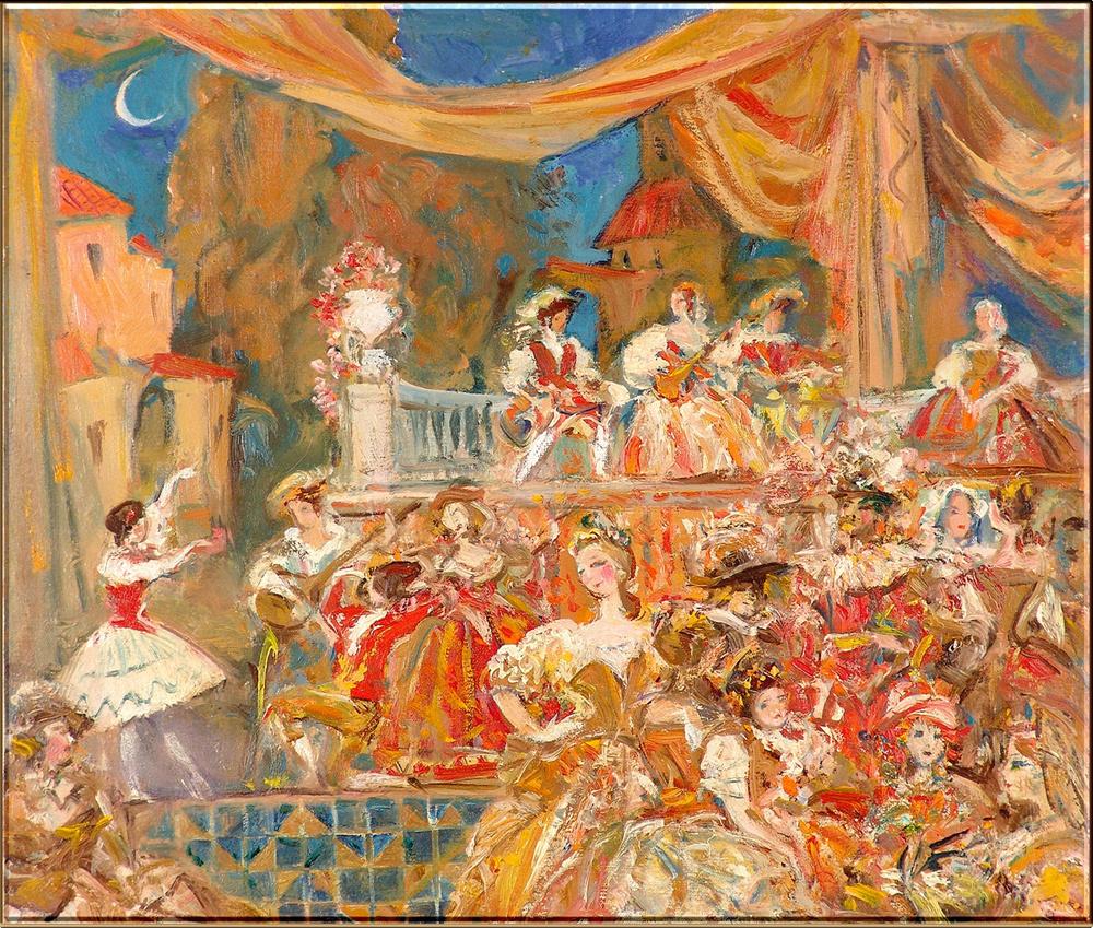 Mikhail Mikhailovich Gerasimov. Carnival
